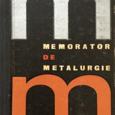 MEMORATOR DE METALURGIE - Benno Nachbar - Carti Metalurgie