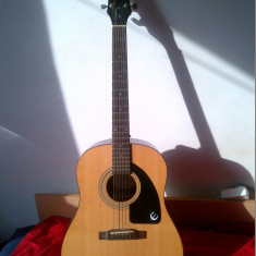 Chitara Acustica Epiphone AJ 100 + CADOU Husa Ibanez (ideala pentru incepatori)