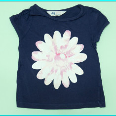 DE FIRMA _ Tricou din bumbac, FRUMOS, marca H&M _ fetite | 18 - 24 luni, Culoare: Bleumarin, Fete