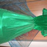Vand 3 rochii de ursitoare pt botez, Marime: 38, 39, Culoare: Orange, Rosu, Verde, Maxi, Scurta, Satin