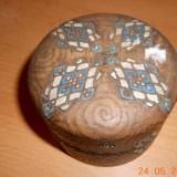 Cutie lemn sculptata manual.