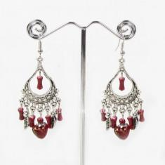Cercei Fashion - Cercei candelabru in stil retro vintage din argint tibetan cu..#156