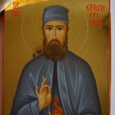 Icoană aurită Sf. Efrem cel Nou - Icoana cu foita de aur