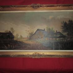 Tablou pictat pe panza 140x83 CM Semnat H.FAUST