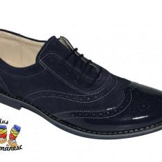 Pantofi barbati adio PIELE NATURALA negri maro bleumarin gri