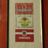 Rama din lemn cu sticla - Eticheta originala - Bere Standard - Timisoreana !!!