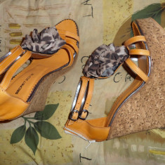 Sandale dama, Piele naturala - Sandale platforma piele