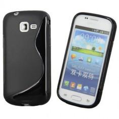 Husa Telefon Samsung, Negru, Gel TPU, Fara snur, Carcasa - Husa Samsung Galaxy Trend Lite S7390 TPU S-LINE Black