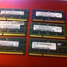 Memorie RAM laptop - Placute Ram Rami Laptop 2Gb DDR3 - PC3-8500S 1066mhz Samsung / Hynix