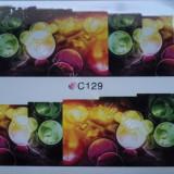 Tatuaj transfer pe baza de apa sticker pentru decorare unghii Full Tip C 129 - Unghii modele