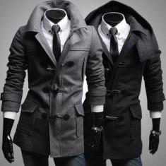 Palton barbati - Palton/paltoane barbati gen ZARA, Negru/Gri .Poze reale! -50% REDUCERE!