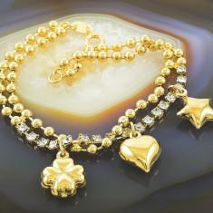 Bratara placate cu aur - Bratara Placata Cu Aur 18k, Cu Zirconiu, cod 630