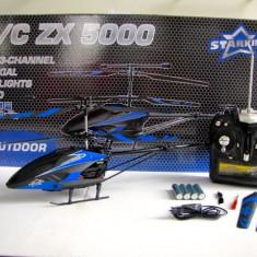 Elicopter de jucarie - Elicopter cu telecomanda STARKID 68062 R/C ZX5000 3 canale, Gyro 47cm