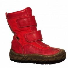 Cizme copii - Cizme rosii din piele Bisgaard, interior lana, marime 25