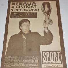 Revista SPORT - NR.2/ 1987(STEAUA Bucuresti castigatoarea Supercupei Europei)