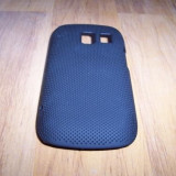 Husa tip capac spate neagra (cu puncte) pentru telefon Nokia 302 Asha