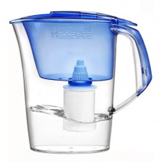 Aparate Filtrare si Dozatoare Apa - Cana de filtrare apa Barrier Premia Albastru, indicator