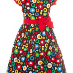 Haine dama - Rochite fete cu buline colorate - BBN1142