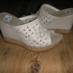 Saboti dama - LICHIDARE STOC! Saboti/papuci cu talpa ortopedica dama piele manusa comozi Sz.37