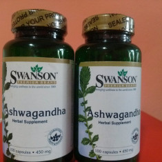 ASHWAGANDHA, 450 mg, 100 capsule, stres, anxietate, cel mai mic pret in Romania! - Supliment nutritiv