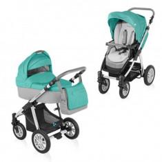 Carucior copii 2 in 1 - Carucior 2 in 1 Dotty Turquoise Baby Design