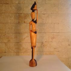 Arta din Lemn - Statueta Hand-Made Africa - Lemn Eben(Abanos)