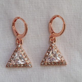 Superbi cercei filati in aur de 9K  cu cristale SWAROVSKI si CZ - gold filled