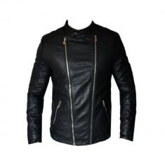 Geaca barbati Zara, Piele - Geaca Zara Man David Beckham SlimFit Imblanita Cod Produs 9111