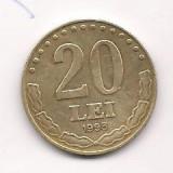 No(4) moneda- ROMANIA- 20 Lei 1993, An: 1944