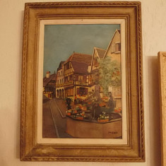 Pictura ulei inramata - Pictor strain, Peisaje, Realism