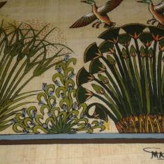 Tablou pictat pe panza vegetala semnat, set doua piese, motiv vanatoresc, Natura, Ulei, Realism