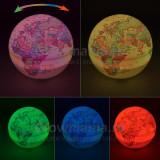 Glob pamantesc LED rotativ multicolor decorativ