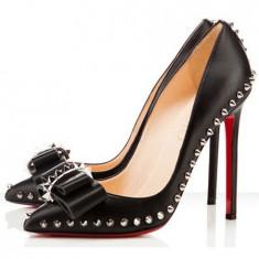 CH2231 Pantofi eleganti cu toc inalt, accesorizati cu tinte - Pantofi dama, 37, 38, 39