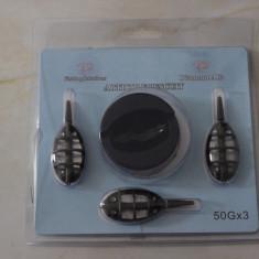 Set 3 Momitoare Method Feeder Diamant Alb 50 Gr - Plumbi Pescuit