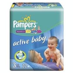 Scutece unica folosinta copii - PAMPERS Scutece Active Baby 3 Midi Regular Pack 22 buc