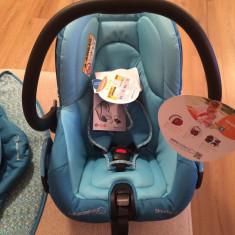 Scaun auto bebelusi grupa 0+ (0-13 kg) Bebe Confort, 0-6 luni, Albastru, Opus directiei de mers - Scoica Auto Bebe Confort Streety.Fix