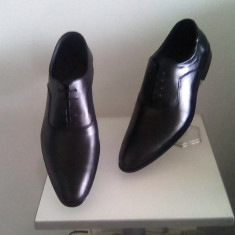 Pantofi barbati, Piele naturala - PANTOFI BARBATESTI TIP ZARA PIELE NATURALA NEGRI SAU MARO