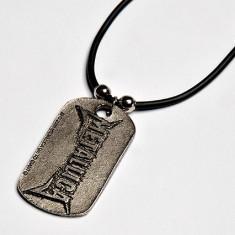"Medalion - Metallica "" St. Anger "" pumn ( cu snur cauciucat"