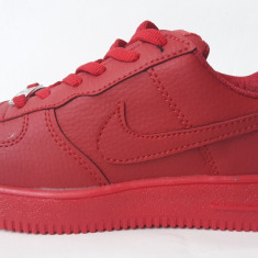 Ghete dama - Ghete Nike Air Force 1 rosu scurt