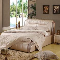Pat dormitor - Paturi cu piele naturala AH8870