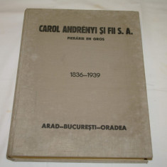 Carte veche - Carol Andrenyi si fii S.A. - Fierarie en gros - 1836 - 1939