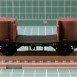 Macheta Feroviara - Vagon cu piese scara HO(3097)