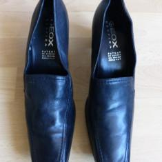 Pantofi Geox Respira, piele naturala; marime 38.5; impecabili - Pantofi dama, Din imagine