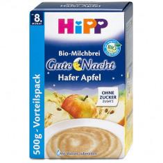 Cereale copii Hipp, De la 8 luni - Cereale HiPP BIO cu Mar si lapte praf, din GERMANIA, transport gratuit