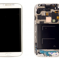 Ansamblu LCD Display Laptop Touchscreen touch screen Samsung Galaxy S4 I9505 White Alb cu rama ORIGINAL - Display LCD