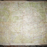 2 Ex. Ghidul Turistului -25 Harti 48x31 cm Litografii- M.Moldoveanu, interbelica - Harta