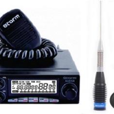 Statie Radio CB Storm Master Export 4-35 Watti Pachet cu Antena cu magnet