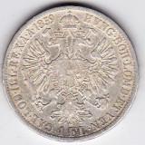 1 Florin Forint Gulden 1859 A Austria Ungaria argint 12, 3 gr. 900/1000 (2), Europa, An: 1859