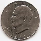 "Statele Unite (SUA) 1 Dolar 1971 - ""Eisenhower Dollar"", 38.1 mm, KM-203 (1), America de Nord, An: 1971"