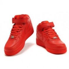 Ghete barbati - Ghete Nike Air Force One Unisex Rosii. -50% REDUCERE. MARIMI DE LA 36-44
